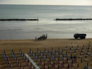 La manutenzione della spiaggia